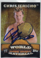 CHRIS JERICHO AUTOGRAPHED WRESTLING CARD #101613A