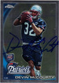 DEVIN McCOURTY AUTOGRAPHED ROOKIE FOOTBALL CARD #101711K