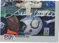 JOHNNY UNITAS AUTOGRAPHED FOOTBALL CARD #101811B