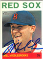 WILL MIDDLEBROOKS BOSTON RED SOX AUTOGRAPHED BASEBALL CARD #101813i
