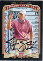 STEVE STRICKER AUTOGRAPHED GOLF CARD #101912D