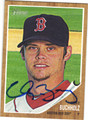 CLAY BUCHHOLZ BOSTON RED SOX AUTOGRAPHED BASEBALL CARD #101913L