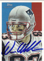 WES WELKER AUTOGRAPHED FOOTBALL CARD #102111G