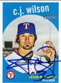 CJ WILSON AUTOGRAPHED BASEBALL CARD #102111K