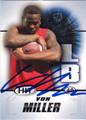 VON MILLER AUTOGRAPHED ROOKIE FOOTBALL CARD #102112P