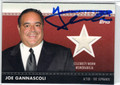 JOE GANNASCOLI AUTOGRAPHED PIECE OF CELEBRITY-WORN MEMORABILIA CARD #102112N