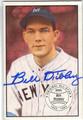 BILL DICKEY NEW YORK YANKEES AUTOGRAPHED VINTAGE BASEBALL CARD #102113E