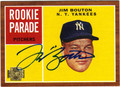 JIM BOUTON NEW YORK YANKEES AUTOGRAPHED BASEBALL CARD #102113K