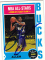 RAY ALLEN MILWAUKEE BUCKS AUTOGRAPHED BASKETBALL CARD #10213F