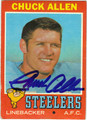 CHUCK ALLEN PITTSBURGH STEELERS AUTOGRAPHED VINTAGE FOOTBALL CARD #10213J