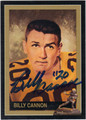 BILLY CANNON LOUISIANA STATE UNIVERSITY AUTOGRAPHED HEISMAN FOOTBALL CARD #10214B