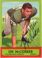 JIM McCUSKER AUTOGRAPHED VINTAGE FOOTBALL CARD #102212T