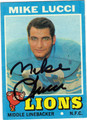 MIKE LUCCI AUTOGRAPHED VINTAGE FOOTBALL CARD #102312i