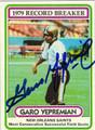 GARO YEPREMIAN AUTOGRAPHED VINTAGE FOOTBALL CARD #102412i