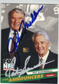 JOHN MADDEN & PAT SUMMERALL DOUBLE AUTOGRAPHED FOOTBALL CARD #102713B