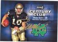 BRADY QUINN AUTOGRAPHED ROOKIE FOOTBALL CARD #102712A