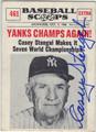 CASEY STENGEL NEW YORK YANKEES AUTOGRAPHED VINTAGE BASEBALL CARD #102813J