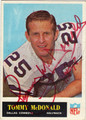 TOMMY McDONALD AUTOGRAPHED VINTAGE FOOTBALL CARD #103012F