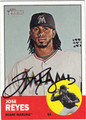 JOSE REYES MIAMI MARLINS AUTOGRAPHED BASEBALL CARD #103012i