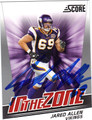 JARED ALLEN AUTOGRAPHED FOOTBALL CARD #10312A