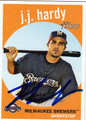 JJ HARDY MILWAUKEE BREWERS AUTOGRAPHED BASEBALL CARD #10313D
