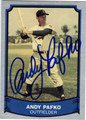 ANDY PAFKO BROOKLYN DODGERS AUTOGRAPHED BASEBALL CARD #10314J