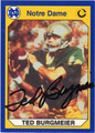 RED BURGMEIER NOTRE DAME AUTOGRAPHED FOOTBALL CARD #10513L