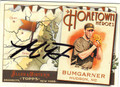 MADISON BUMGARNER SAN FRANCISCO GIANTS AUTOGRAPHED BASEBALL CARD #10514C