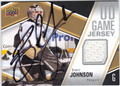 BRENT JOHNSON PITTSBURGH PENGUINS AUTOGRAPHED PIECE OF THE GAME HOCKEY CARD #10513F