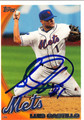 LUIS CASTILLO NEW YORK METS AUTOGRAPHED BASEBALL CARD #10513J