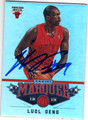 LUOL DENG CHICAGO BULLS AUTOGRAPHED BASKETBALL CARD #10714C