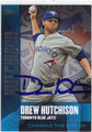 DREW HUTCHISON TORONTO BLUE JAYS AUTOGRAPHED BASEBALL CARD #10714H