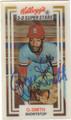 OZZIE SMITH ST LOUIS CARDINALS AUTOGRAPHED BASEBALL CARD #10813B