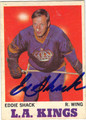 EDDIE SHACK LOS ANGELES KINGS AUTOGRAPHED VINTAGE HOCKEY CARD #10813G