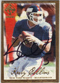 KERRY COLLINS NEW YORK GIANTS AUTOGRAPHED & NUMBERED FOOTBALL CARD #10913F