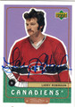 LARRY ROBINSON MONTREAL CANADIENS AUTOGRAPHED HOCKEY CARD #10913G
