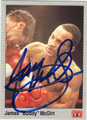 JAMES BUDDY McGIRT AUTOGRAPHED BOXING CARD #10914C