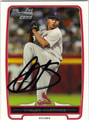 CARLOS MARTINEZ ST LOUIS CARDINALS AUTOGRAPHED ROOKIE BASEBALL CARD #110113E