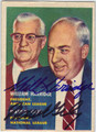 WILLIAM HARRIDGE & WARREN GILES DOUBLE AUTOGRAPHED BASEBALL CARD #110113F