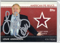 LOUIE ANDERSON AUTOGRAPHED PIECE OF CELEBRITY-WORN MEMORABILIA CARD #110312G