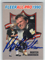 MORTEN ANDERSEN NEW ORLEANS SAINTS AUTOGRAPHED FOOTBALL CARD #11013G