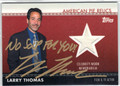 LARRY THOMAS AUTOGRAPHED CELEBRITY-WORN MEMORABILIA CARD #110312P