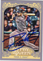 ANGEL PAGAN AUTOGRAPHED BASEBALL CARD #110412C