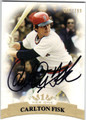 CARLTON FISK BOSTON RED SOX AUTOGRAPHED & NUMBERED BASEBALL CARD #110513B