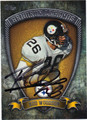 ROD WOODSON PITTSBURGH STEELERS AUTOGRAPHED FOOTBALL CARD #110513C
