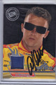AJ ALLMENDINGER AUTOGRAPHED PIECE OF THE GAME NASCAR CARD #110612B