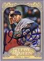 JHONNY PERALTA AUTOGRAPHED BASEBALL CARD #110712B