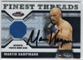 MARTIN KAMPMANN AUTOGRAPHED & NUMBERED PIECE OF THE GAME CARD #110512F