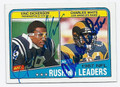 ERIC DICKERSON & CHARLES WHITE DOUBLE AUTOGRAPHED FOOTBALL CARD #110910G