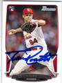 TREVOR ROSENTHAL ST LOUIS CARDINALS AUTOGRAPHED ROOKIE BASEBALL CARD #111013B